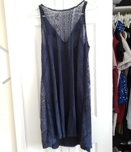 Dresses & Skirts - A&F| Navy Lace Shift Dress
